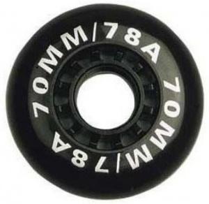 8372803c7b7 Nijdam Wielen Voor Inline Skates Zwart 70x25 mm Per 4 Stuks