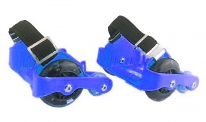 Ninco heel wheels Wheelswith LED lights 2 pieces blue