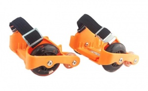 Ninco heel wheels Wheels with LED lights 2 pieces orange