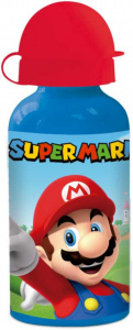 Nintendo drinking bottle Super Mario Bros 400 ml aluminium blue