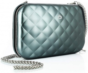Ögon Designs clutch Rfid Lady Bag 20.5 cm aluminium green