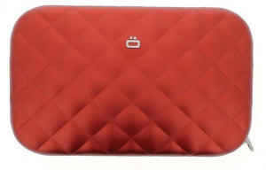 Ögon Designs clutch Rfid Lady Bag 20.5 cm aluminium red