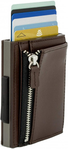 Ögon Designs card holder Rfid Cascade 9.7 x 6.8 cm leather brown