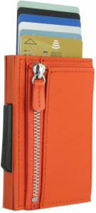 Ögon Designs portefeuille/porte-cartes Rfid 9,7 cm cuir orange