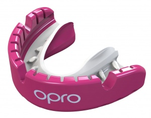 Opro sportbitje Self-Fit GEN4 gold braces unisex roze/wit