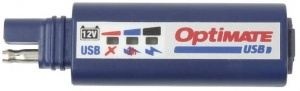 Optimate SAE-connector USB blauw