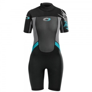 Osprey wetsuit Origin shorty 3/2 mm dames zwart/blauw