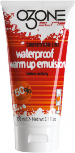 Ozone Elite emulsie Waterproof Warm Up 150 ml wit/rood