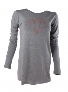 Papillon t-shirt with long sleeves ladies grey
