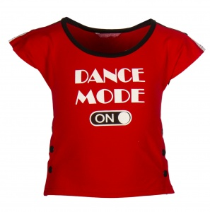 Papillon sport T-shirt dance mode on meisjes rood