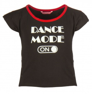 Papillon sport T-shirt dance mode on meisjes zwart