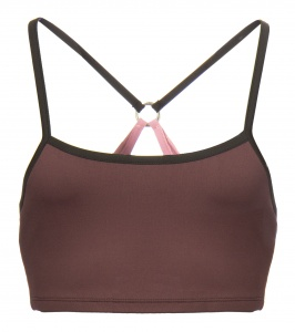 Papillon sports bra top ladies bordeaux