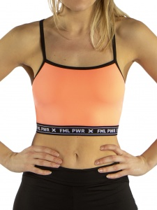Papillon sports bra top ladies orange