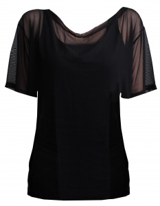 Papillon sportshirt mesh ladies black