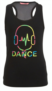 Papillon sports Dancetop girls viscose black
