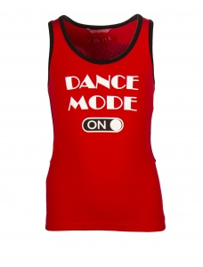 Papillon sporttop racerback dance mode on meisjes rood