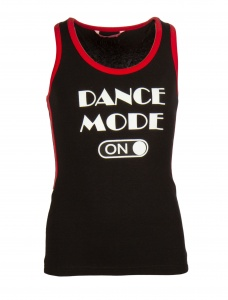 Papillon sporttop racerback dance mode on meisjes zwart