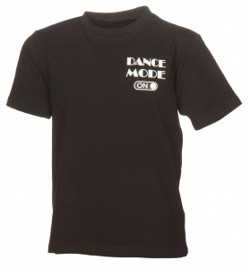 Papillon T-shirt korte mouw dance mode on meisjes zwart