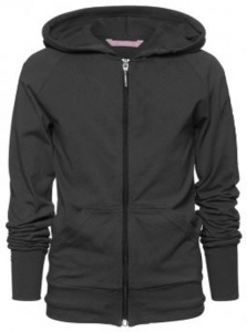 Papillon jacket with hood black