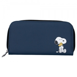 Peanuts wallet Snoopy Forever Famous 19 x 10 x 2 cm navy