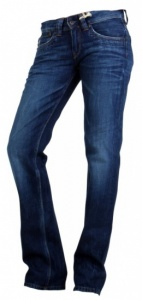 Pepe Jeans Bloom Dames Jeans Donkerblauw