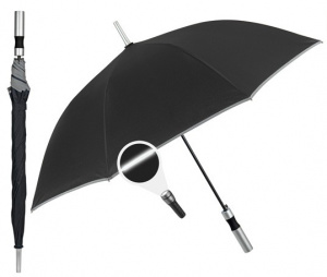 Perletti umbrella automatic 65 x 103 cm microfibre black
