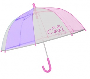 Perletti parapluie Cool Kids64/60 cm junior transparent/rose