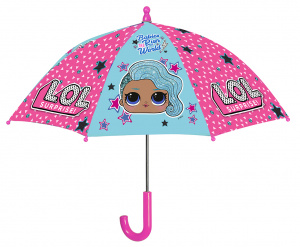 Perletti umbrella LOL girls 66 cm fiberglass pink/blue