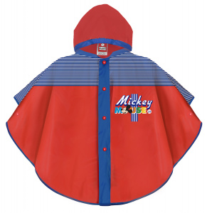 Perletti rain poncho Mickey Mouse EVA red/blue 2-5 years