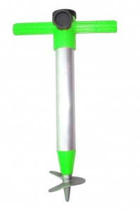 Pincho umbrella holder 23-35 mm aluminium 32 cm chrome/green
