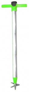 Pincho parasol pole with drill point 23 mm aluminium 92 cm green