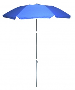 Pincho beach umbrella 180 cm polyester blue 4-piece