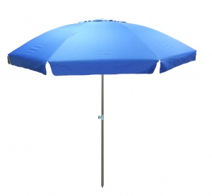 Pincho beach umbrella 240 cm polyester UV-resistant blue