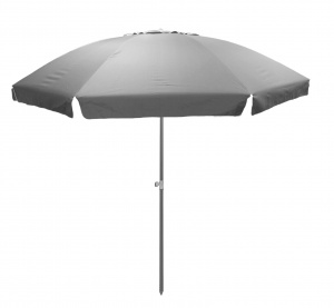 Pincho beach umbrella 240 cm polyester UV-resistant grey