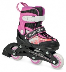 Playlife Verstelbare Inline Skates Jumper girls junior roze