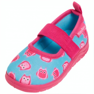 Playshoes beginners owl girls turquoise/pink