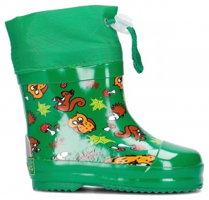 Playshoes short rainboots forest animals green