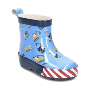 Playshoes short rain boots construction site light blue