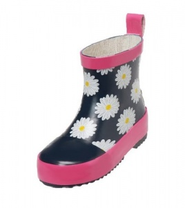 Playshoes short rain boots dark blue pink