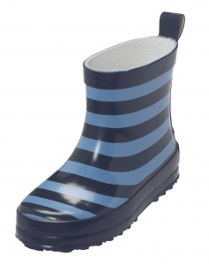 Playshoes short rain boots striped blue