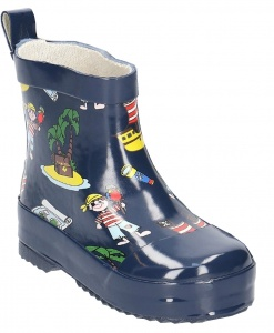 Playshoes short rainboots pirates dark blue