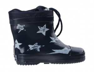 Playshoes short rain boots stars blue