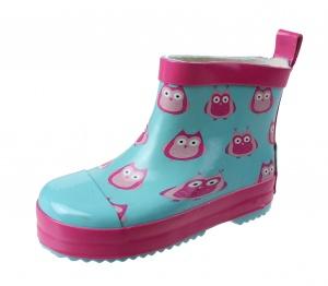 Playshoes short boots owls blue / pink