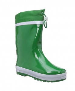 Playshoes rain boots with drawstring green