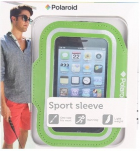 Polaroid sportarmband voor smartphone Galaxy groen one size