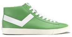 Pony Topstar Leather Hi Hoge Sneakers Groen Wit