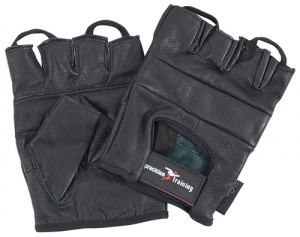 Precision Training fitness gloves leather black
