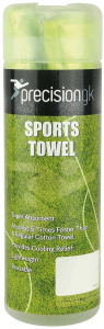 Precision sports towel GK66 x 43 cm textile green
