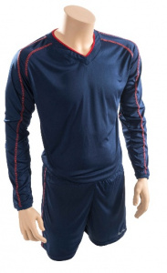Precision voetbaltenue Marseille jr polyester navy/rood
