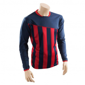 Precision voetbalshirt Precision polyester blauw/rood